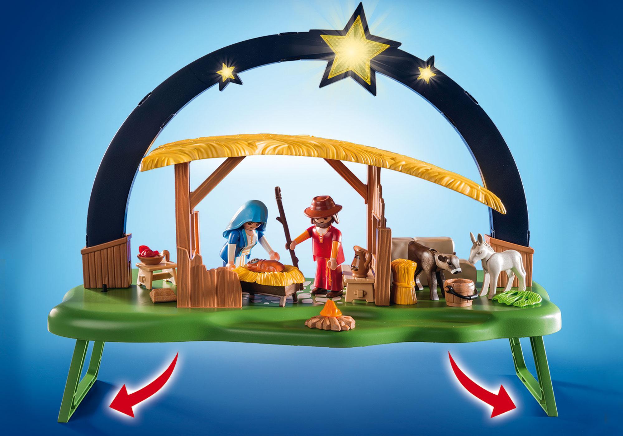 "http://media.playmobil.com/i/playmobil/9494_product_extra2/ljusbåge ""Jesu födelse"""
