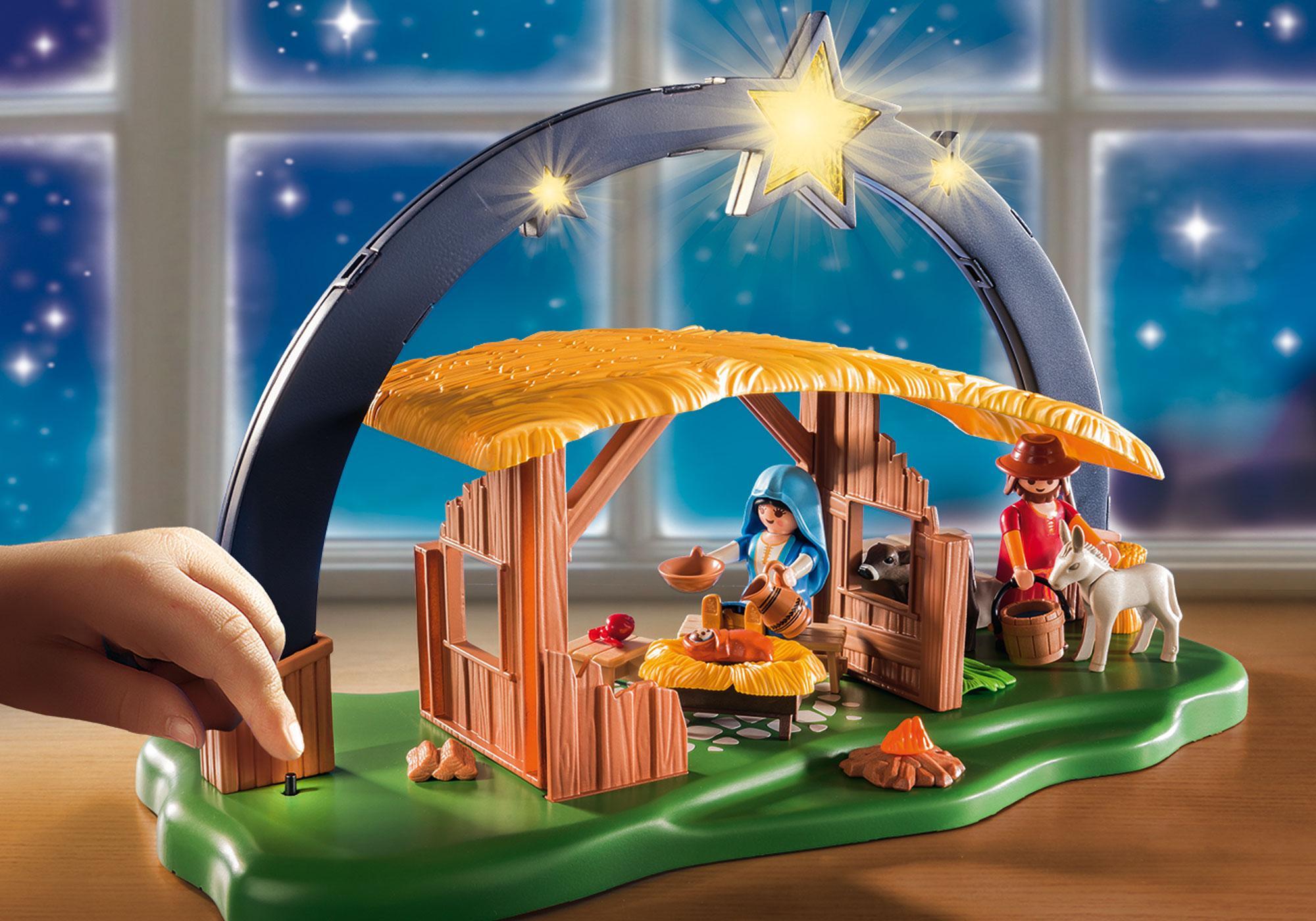 "http://media.playmobil.com/i/playmobil/9494_product_extra3/ljusbåge ""Jesu födelse"""