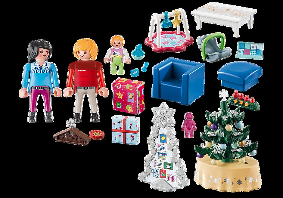 http://media.playmobil.com/i/playmobil/9495_product_box_back/Salon w świątecznym wystroju