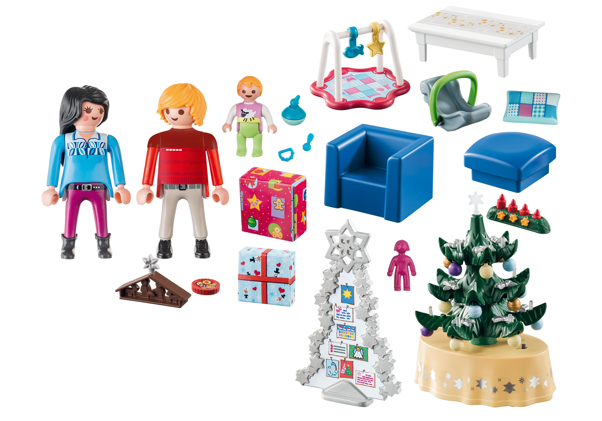 http://media.playmobil.com/i/playmobil/9495_product_box_back/Woonkamer in kerststijl