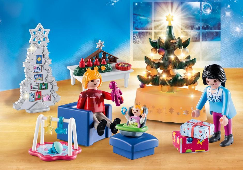 Woonkamer in kerststijl - 9495 - PLAYMOBIL® Nederland
