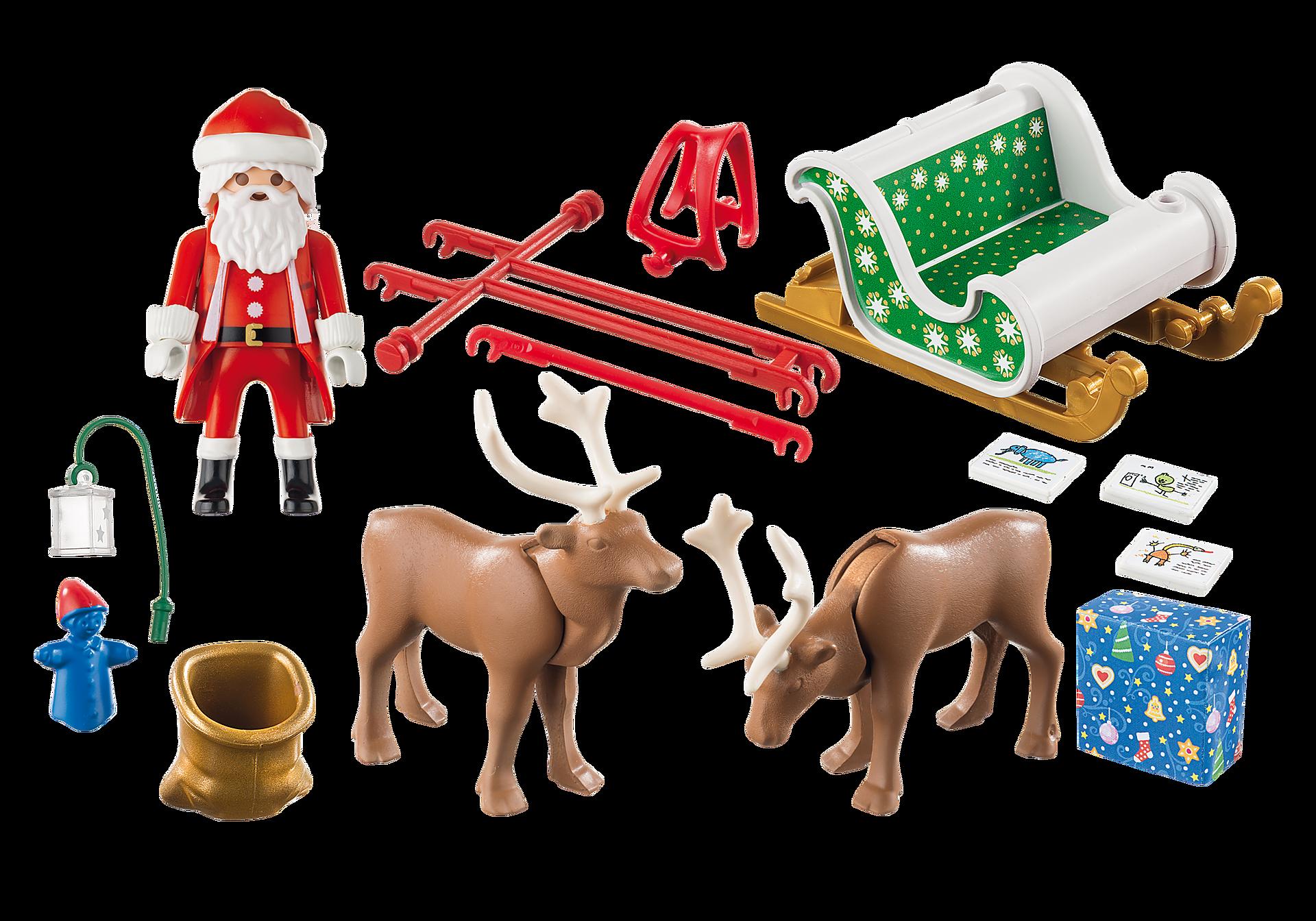 Renne Babbo Natale.Slitta Di Babbo Natale Con Renne 9496 Playmobil Italia