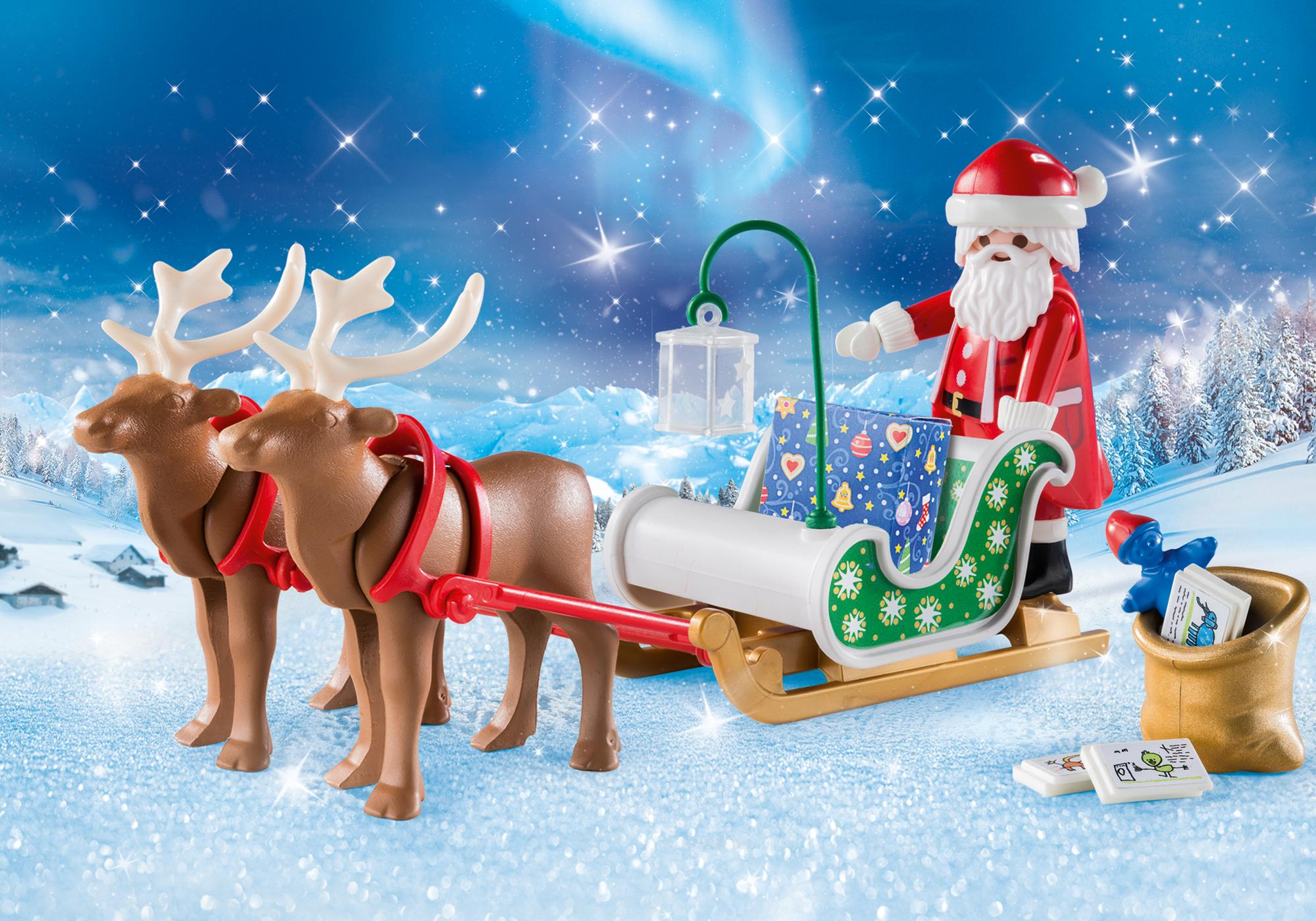 9496_product_detail/Julemandens slæde med rensdyr