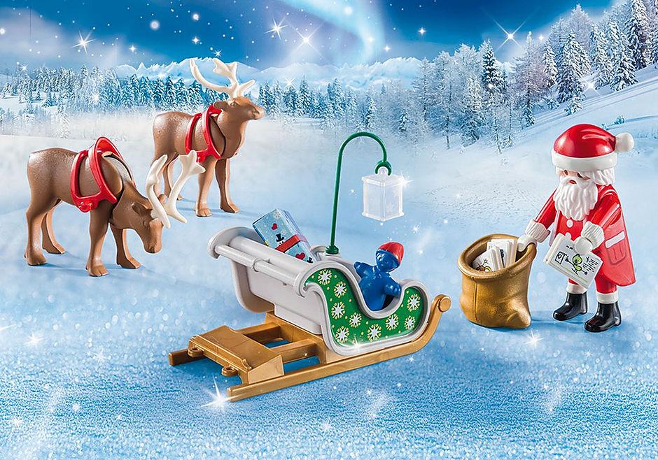Immagini Di Babbo Natale Con La Slitta E Le Renne.Slitta Di Babbo Natale Con Renne 9496 Playmobil Italia