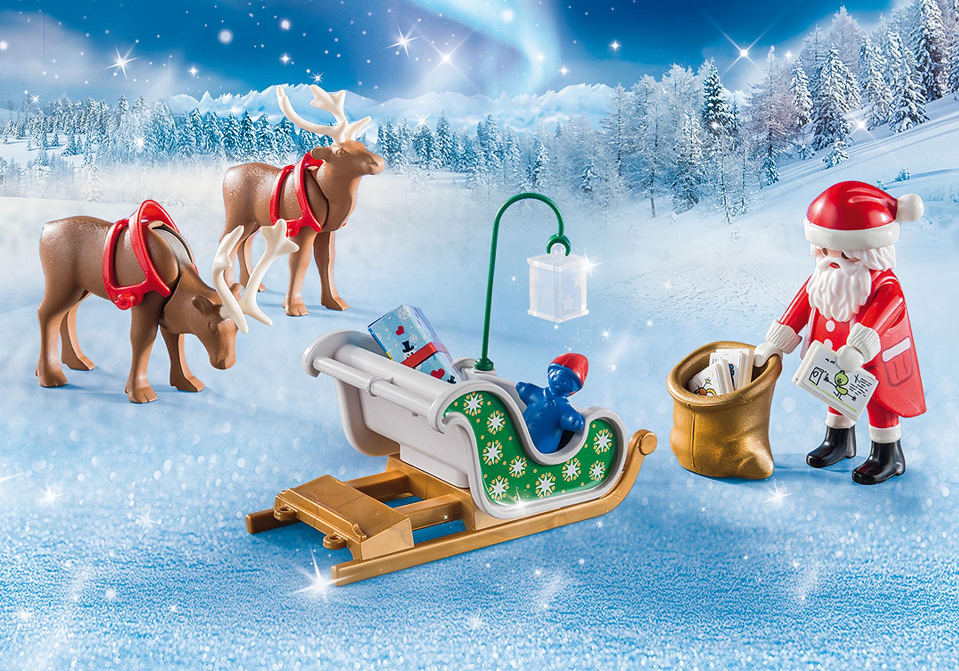 Babbo Natale Con Le Renne.Slitta Di Babbo Natale Con Renne 9496 Playmobil Italia