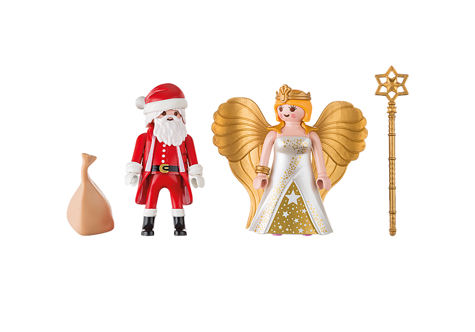 9498 Santa and Christmas Angel detail image 3