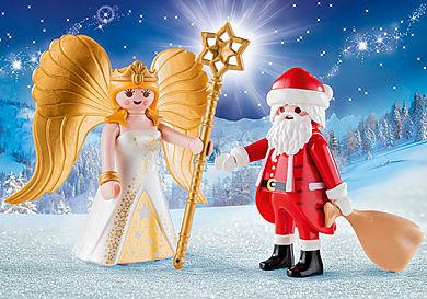 9498 Santa and Christmas Angel