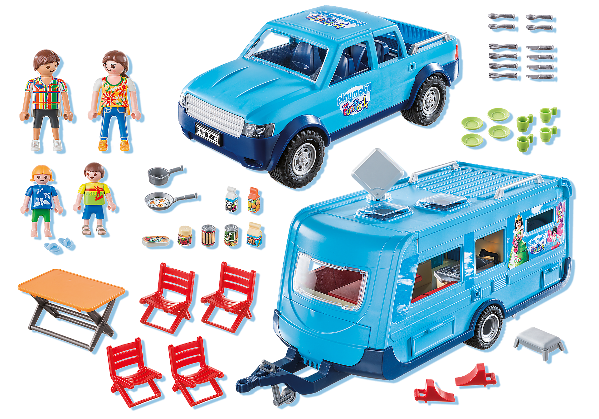 9502 PLAYMOBIL-FunPark Pickup with Camper zoom image3