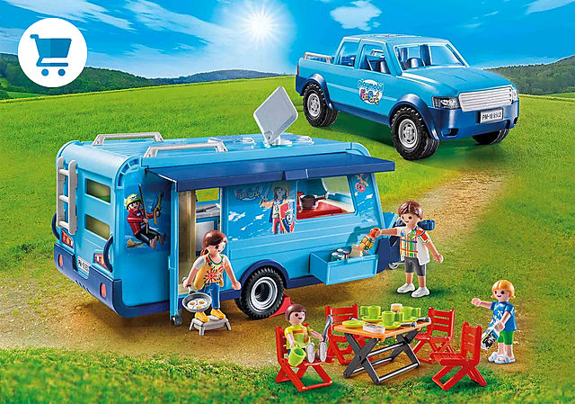 9502_product_detail/PLAYMOBIL-FunPark pickup med campingvogn