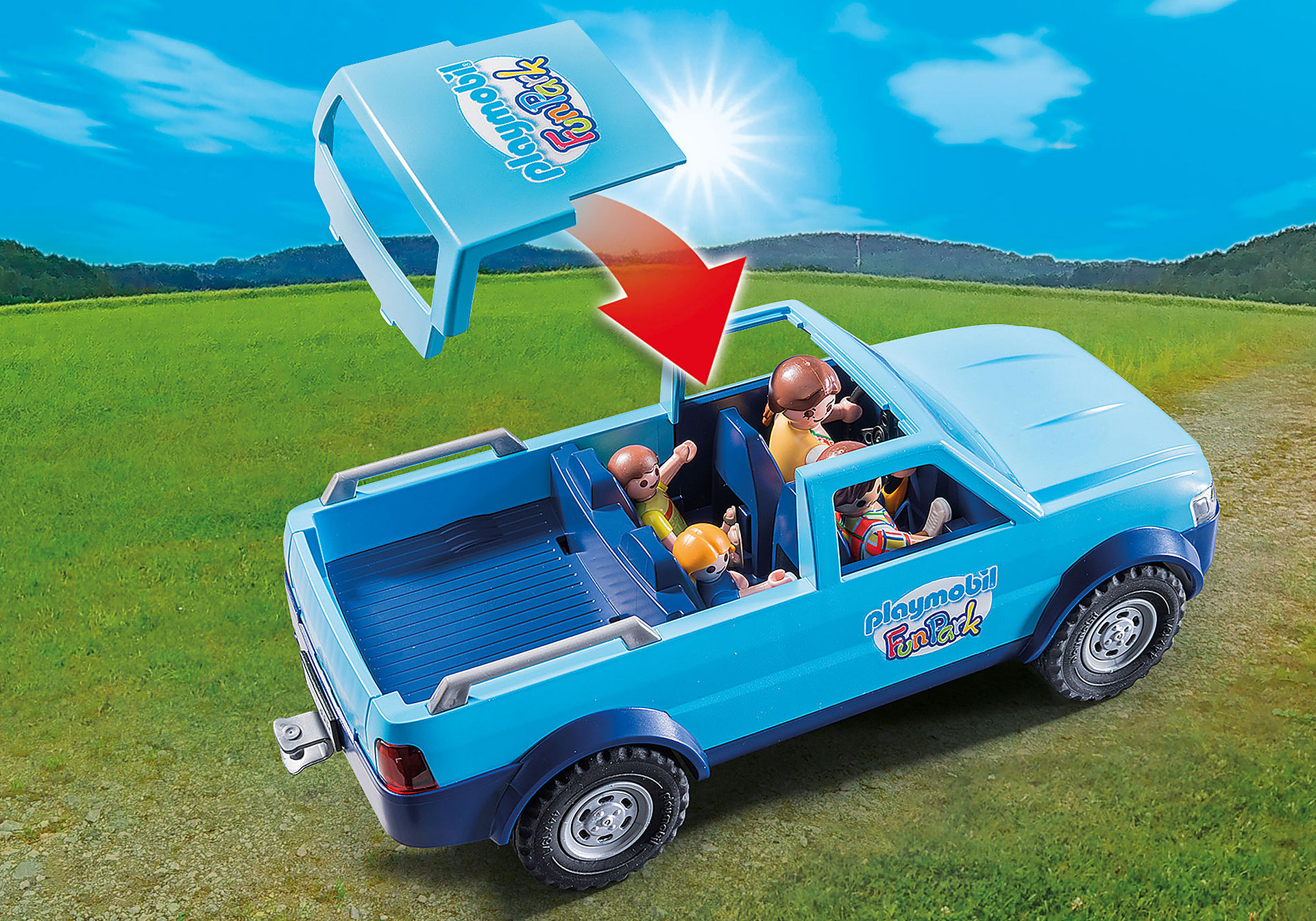 9502 PLAYMOBIL-FunPark Pickup con roulotte zoom image4