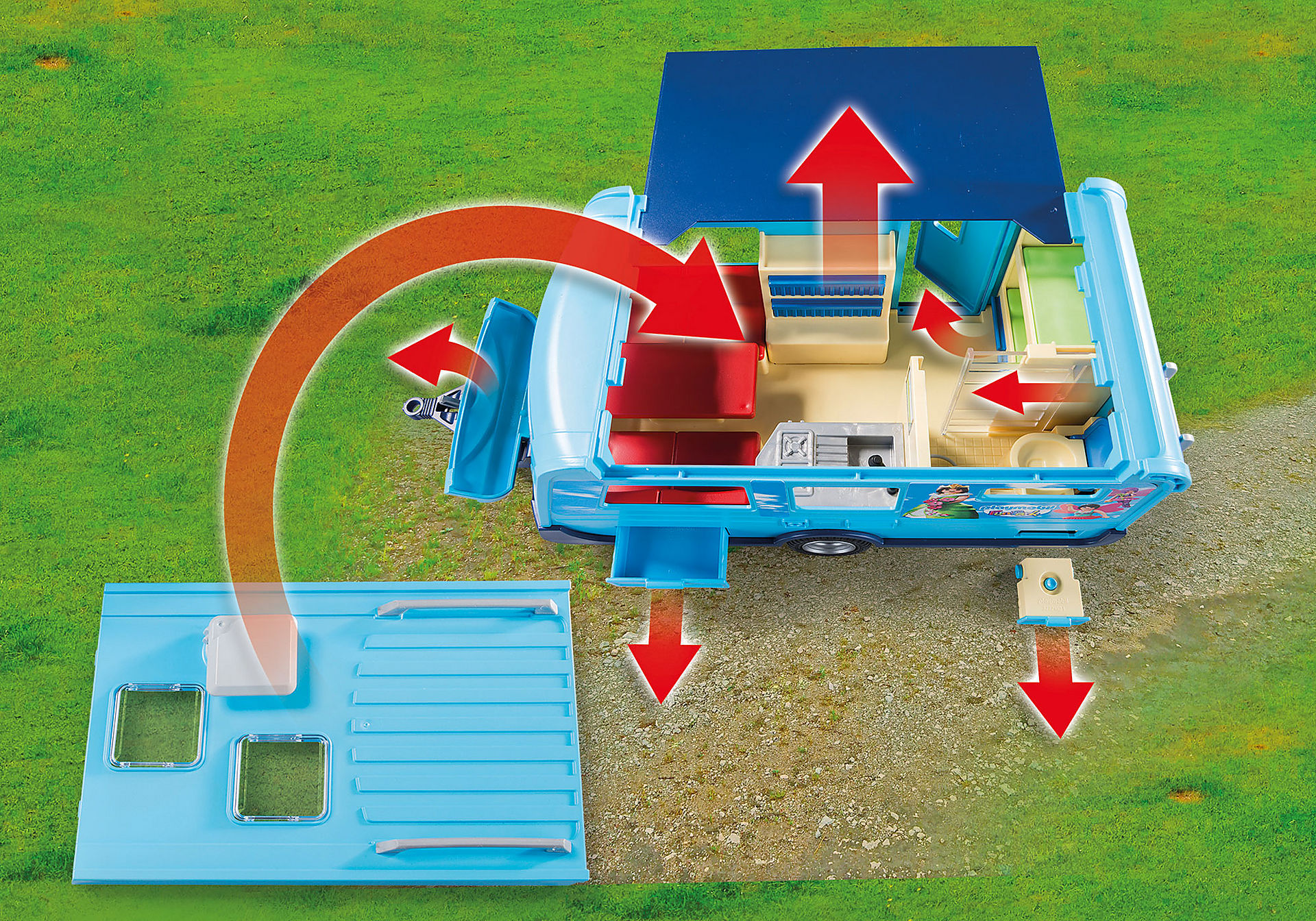 9502 PLAYMOBIL-FunPark Pick-Up mit Wohnwagen zoom image5