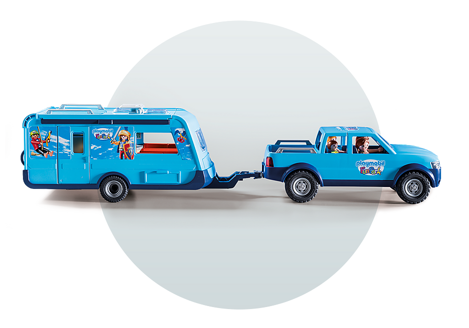 9502 PLAYMOBIL FunPark Pickup with Camper detail image 7