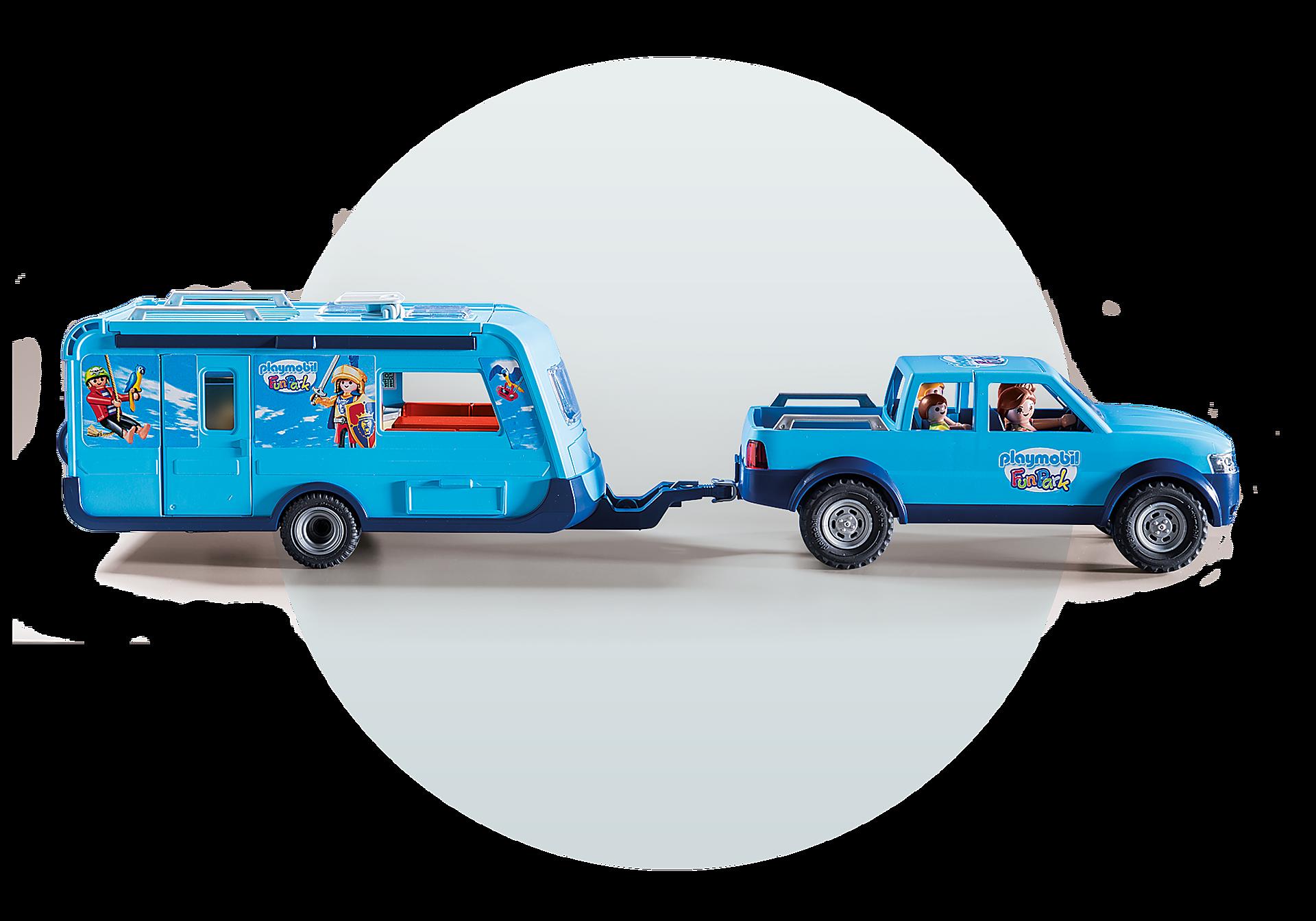 9502 PLAYMOBIL-FunPark Pick-Up mit Wohnwagen zoom image7