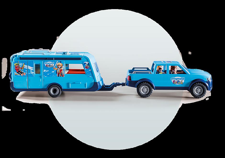 9502 PLAYMOBIL-FunPark Pick-Up mit Wohnwagen detail image 7