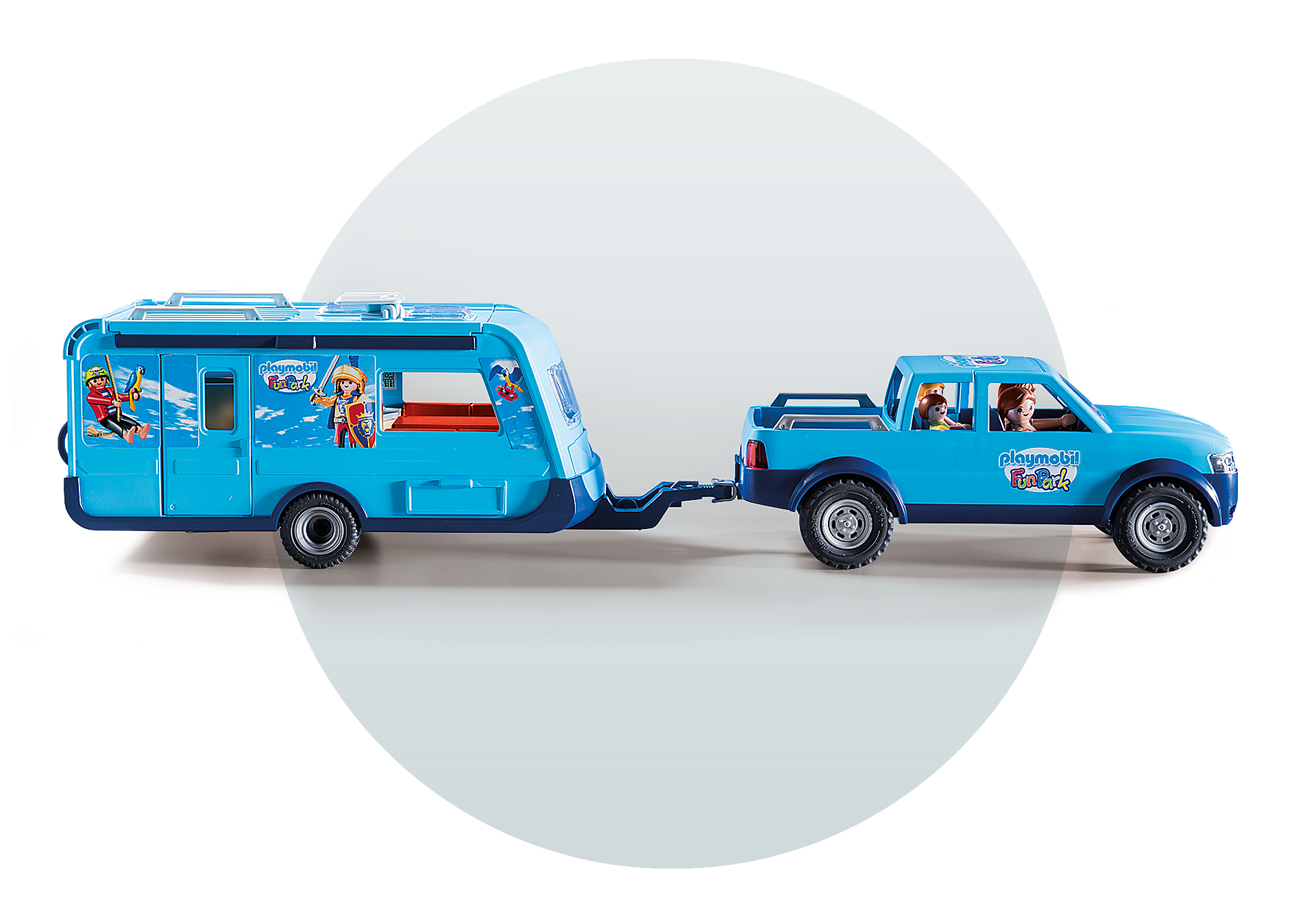 9502 PLAYMOBIL-FunPark Pickup con roulotte zoom image7