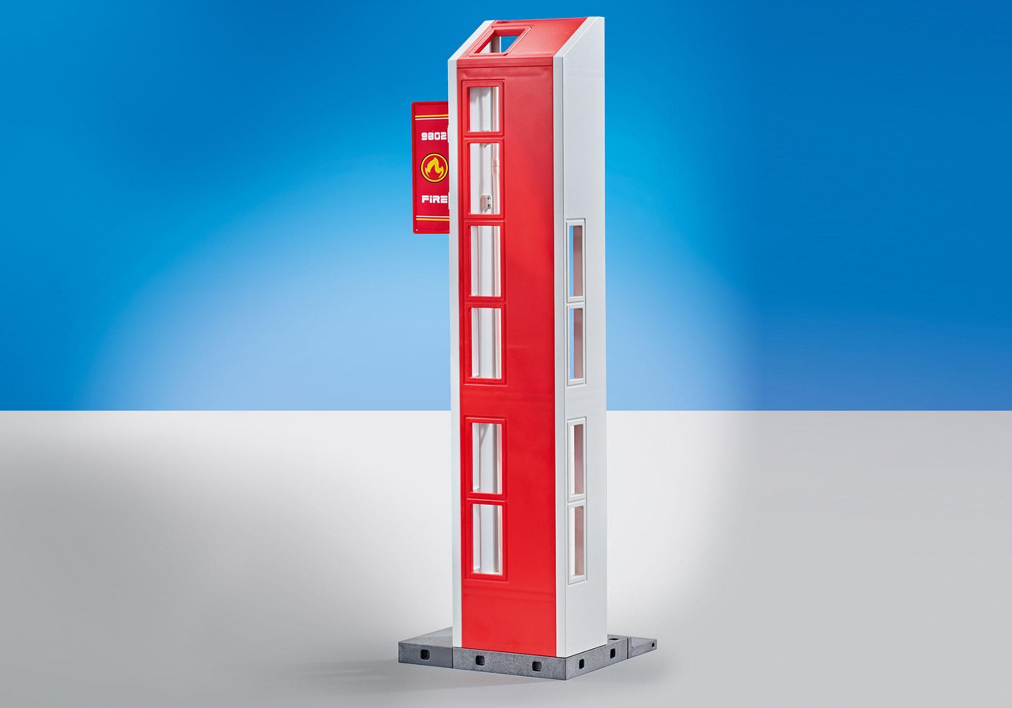 http://media.playmobil.com/i/playmobil/9802_product_detail/Torre di esercitazione con allarme. (Compatibile con la Stazione dei Vigili del Fuoco 9462)