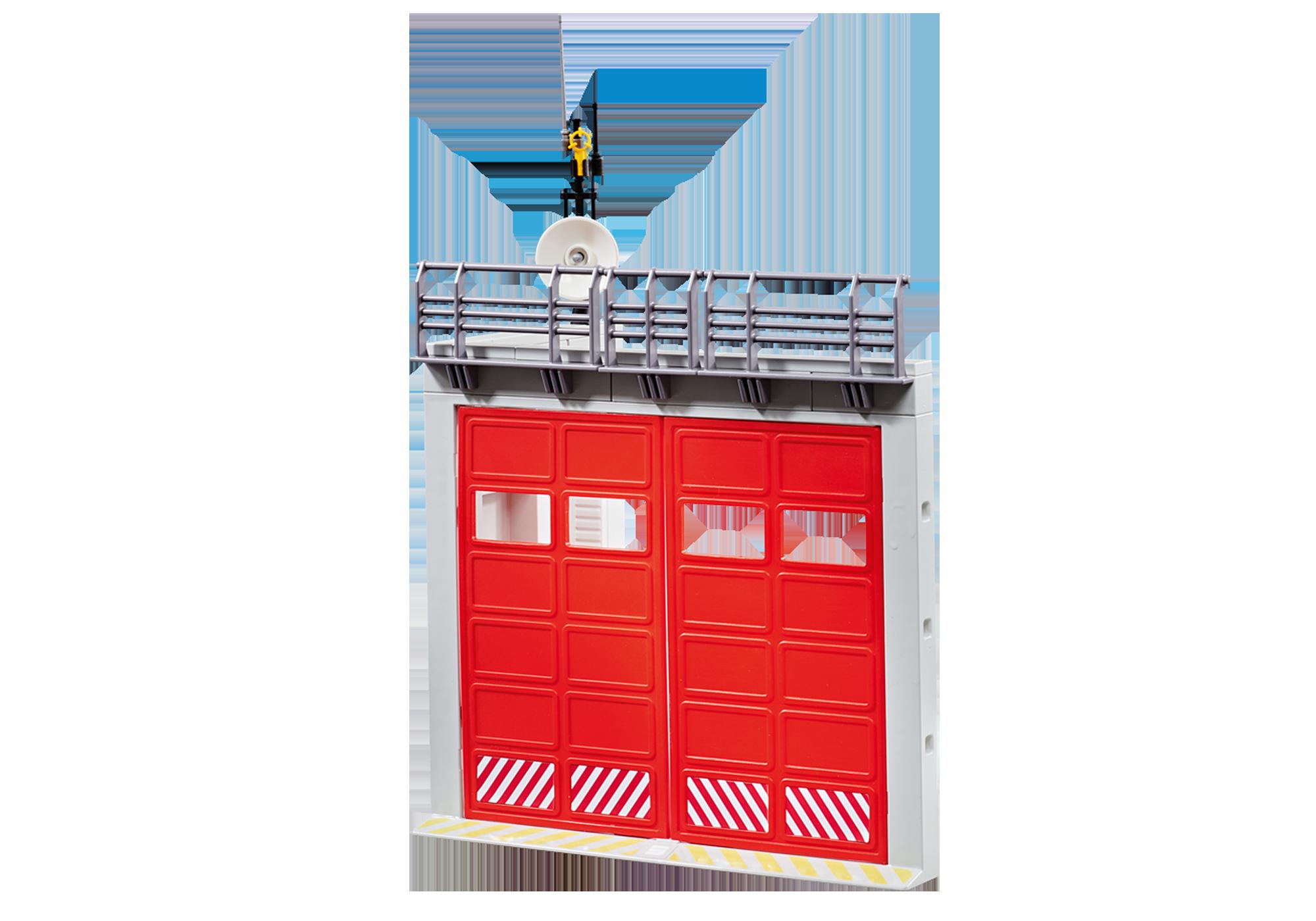 http://media.playmobil.com/i/playmobil/9803_product_detail/Garage addizionale dei Vigili del Fuoco. (Compatibile con la Stazione dei Vigili del Fuoco 9462)