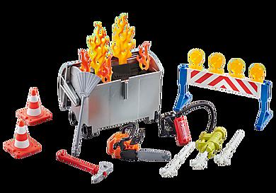 9804 Fire Brigade Accessories Set