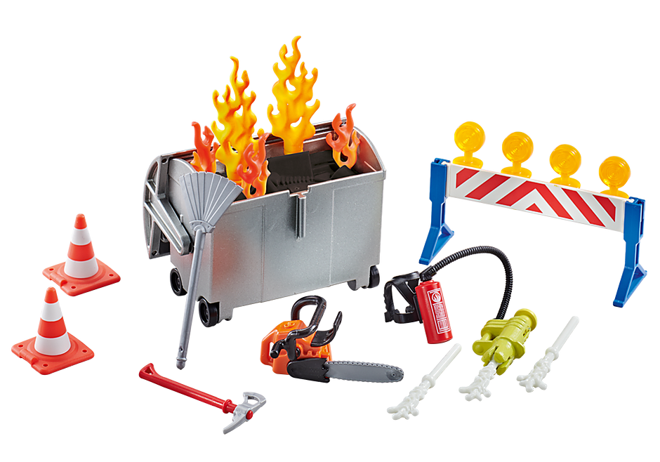 9804 Fire Brigade Accessories Set detail image 1