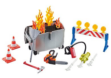 9804 Fire Brigade Accessories Set