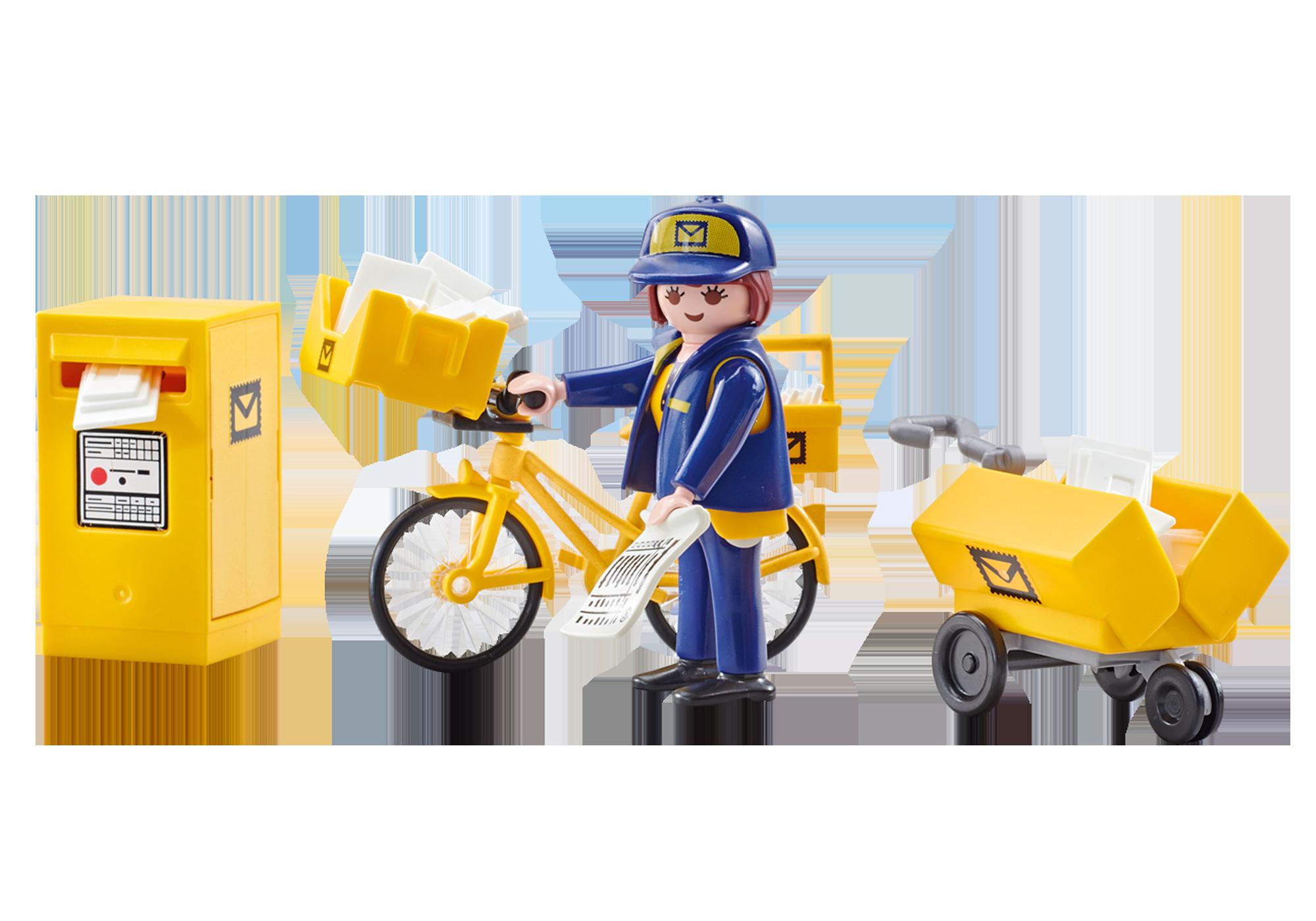 http://media.playmobil.com/i/playmobil/9806_product_detail/Γυναίκα Ταχυδρόμος με ποδήλατο