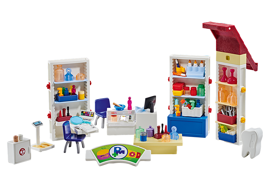 http://media.playmobil.com/i/playmobil/9808_product_detail/Aménagement pour pharmacie