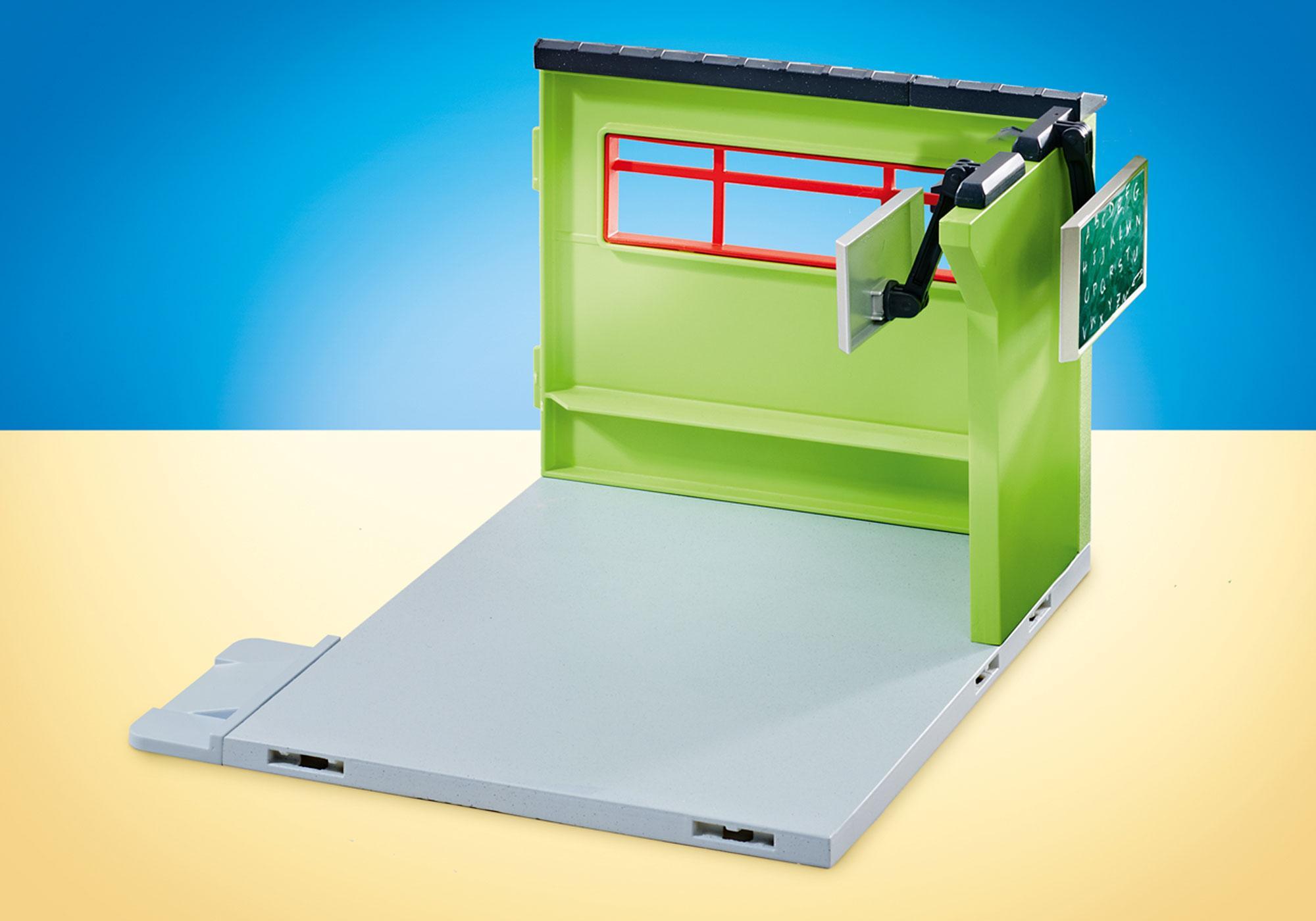 http://media.playmobil.com/i/playmobil/9809_product_detail/Uitbreiding klaslokaal voor de ingerichte school 9453