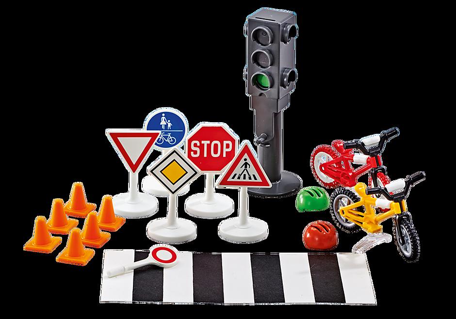 http://media.playmobil.com/i/playmobil/9812_product_detail/Εξοπλισμός και σήμανση οδικής κυκλοφορίας