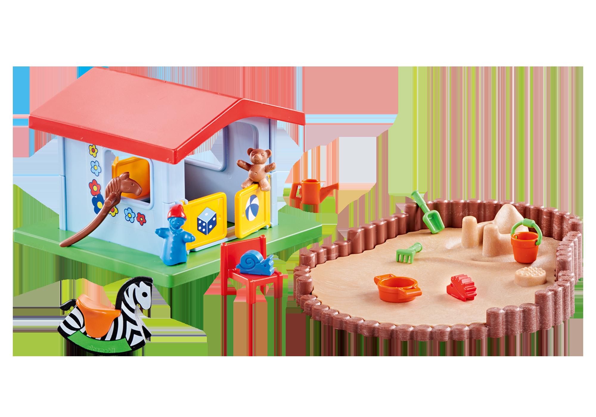 http://media.playmobil.com/i/playmobil/9814_product_detail/Pequena casa de brincar com recinto de areia
