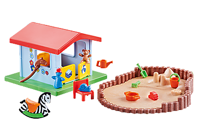 9814_product_detail/Small Play House with Sandpit