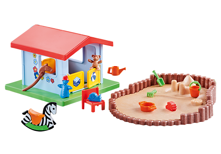9814 Small Play House with Sandpit detail image 1