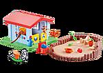 9814 Speelhuis met zandbak
