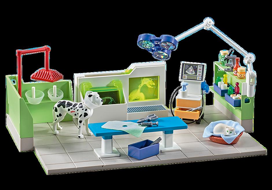 http://media.playmobil.com/i/playmobil/9816_product_detail/Clínica Veterinaria con Rayos X