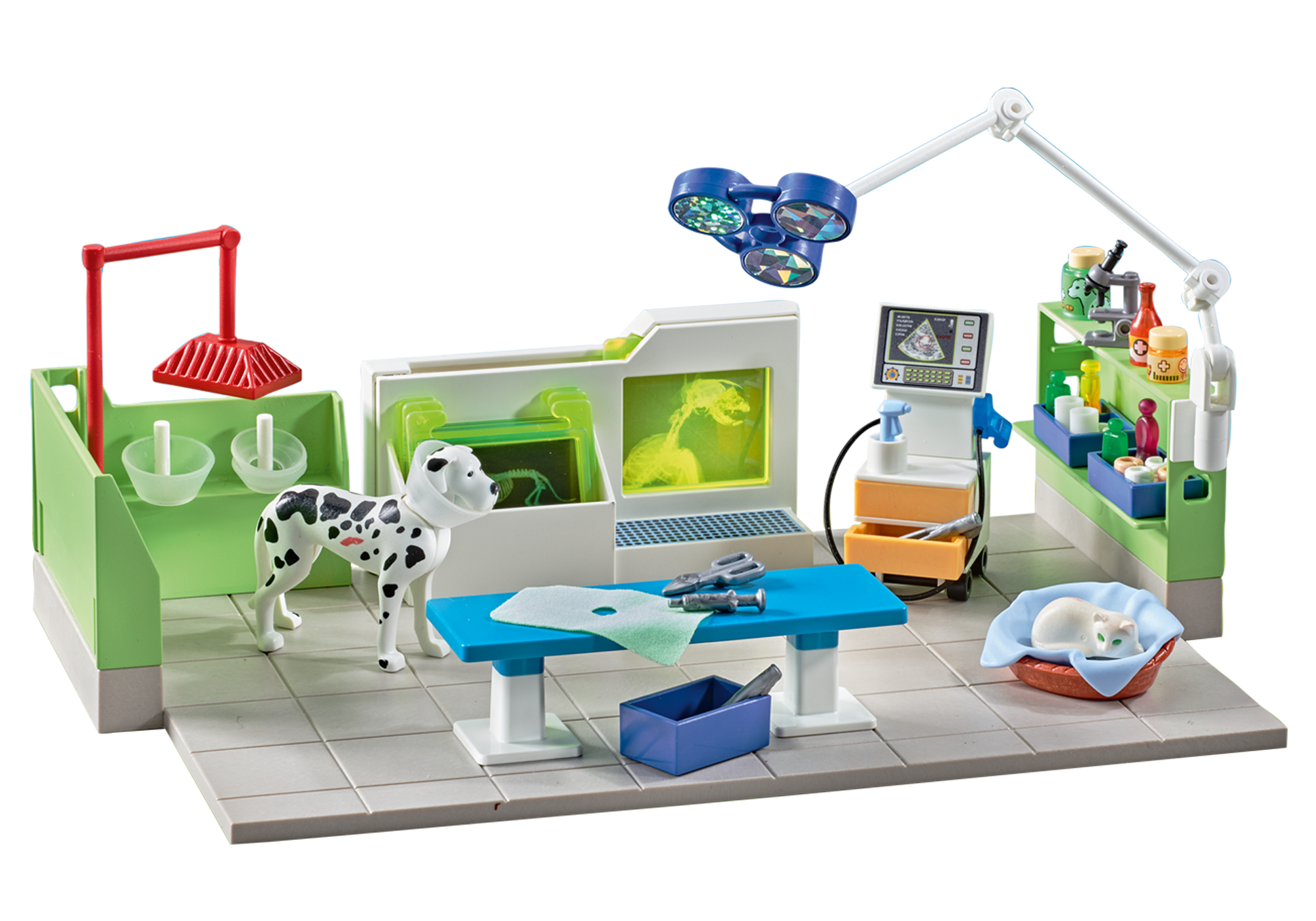 http://media.playmobil.com/i/playmobil/9816_product_detail/Tierarztpraxis mit Röntgengerät