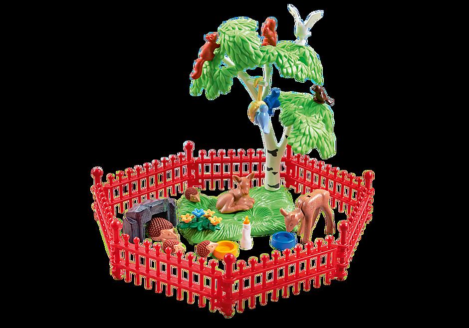9817 Wilde dieren met omheining detail image 1