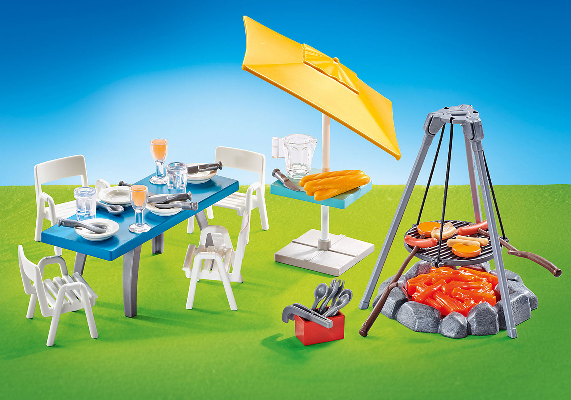 9818 Churrasqueira com mesa, cadeiras e chapéu de sol  zoom image1