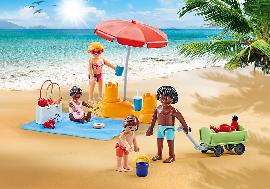 9819 Familie op het strand detail image 1