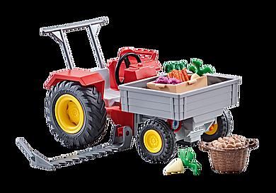 9831 Mały traktor z warzywami