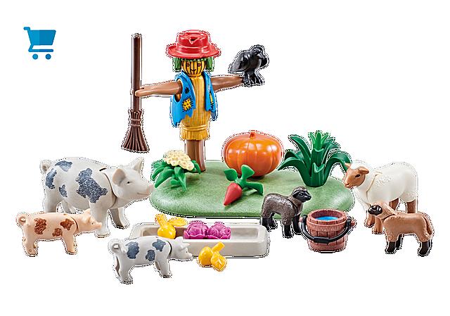 9832_product_detail/Animaux de la ferme et épouvantail