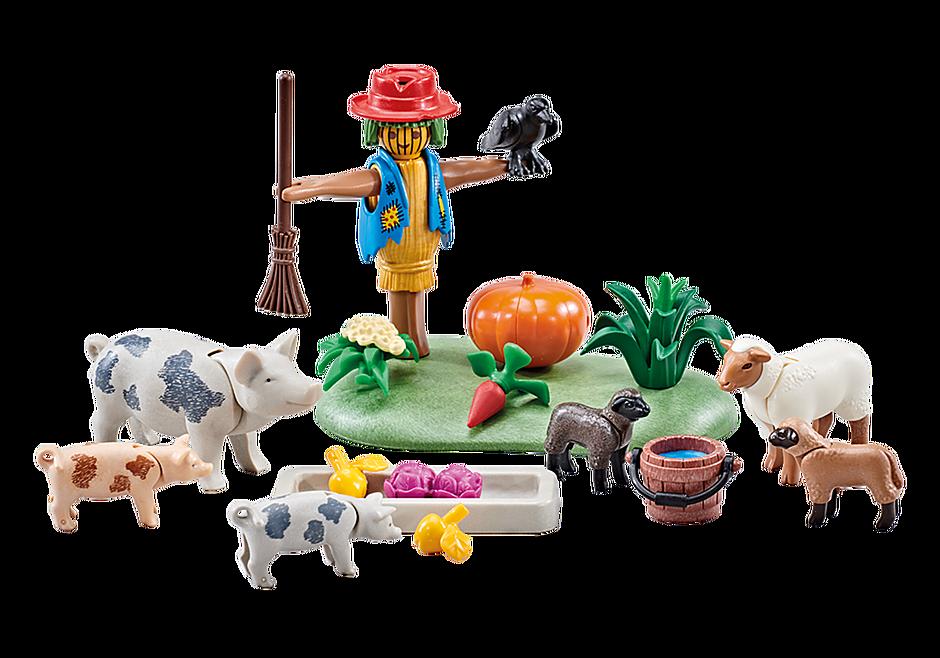 9832 Fleckschweine und Schafe detail image 1