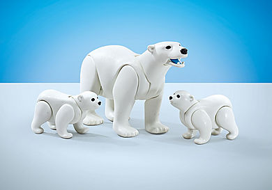 9833 Famille d'ours blanc