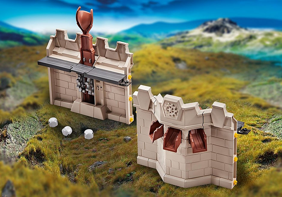 9839 Mur d'extension et catapulte pour le Grand château des Chevaliers Novelmore detail image 1