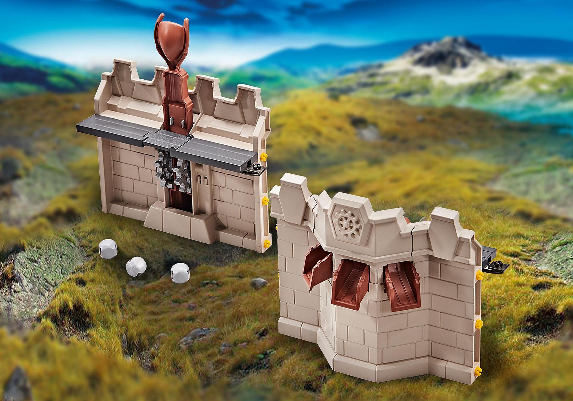 9839 Rozbudowa muru twierdzy rycerzy Novelmore z katapultą zoom image1