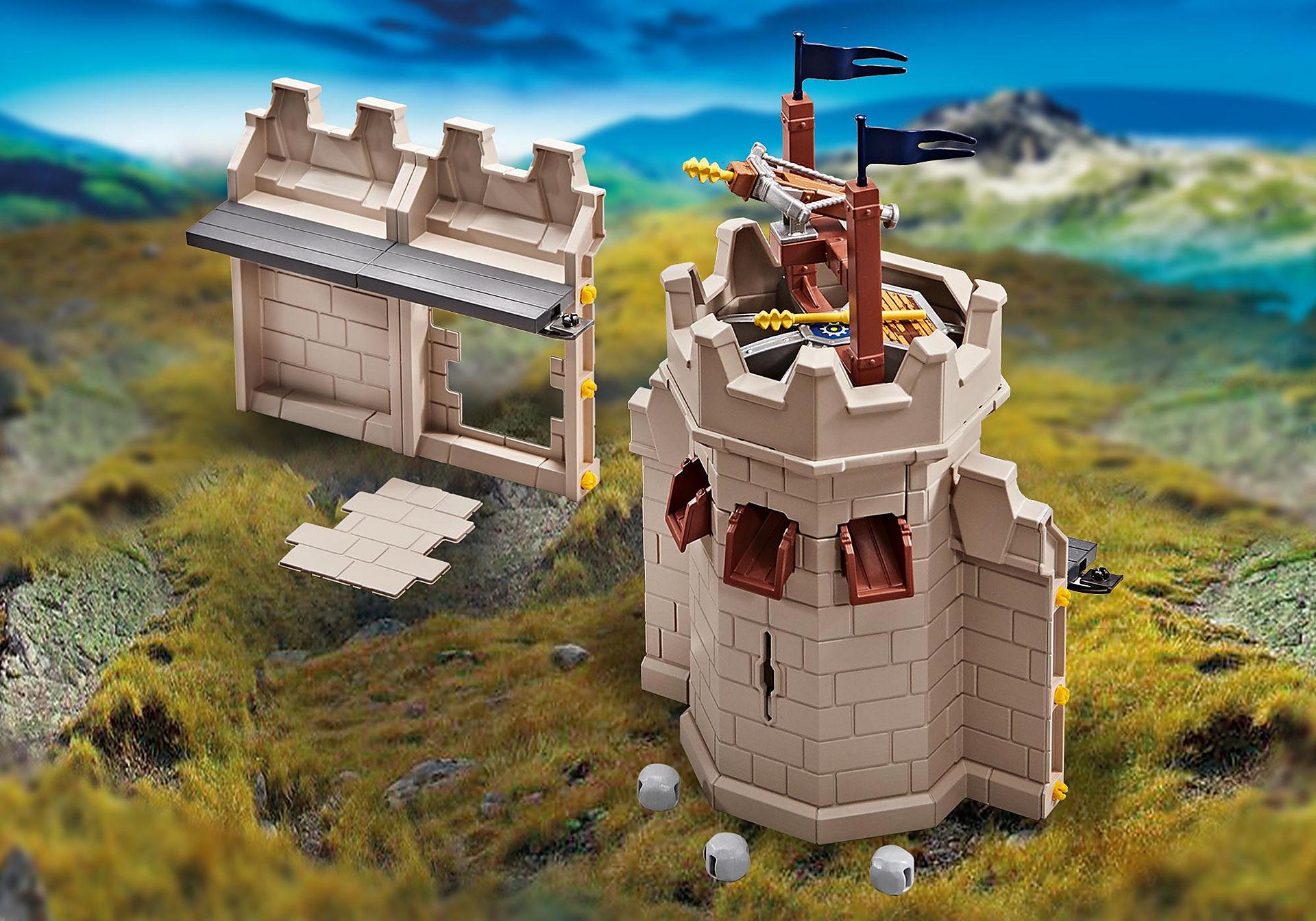 9840 Rozbudowa wieży oraz muru twierdzy rycerzy Novelmore z katapultą zoom image1