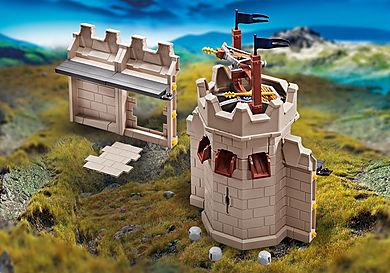 9840 Rozbudowa wieży oraz muru twierdzy rycerzy Novelmore z katapultą