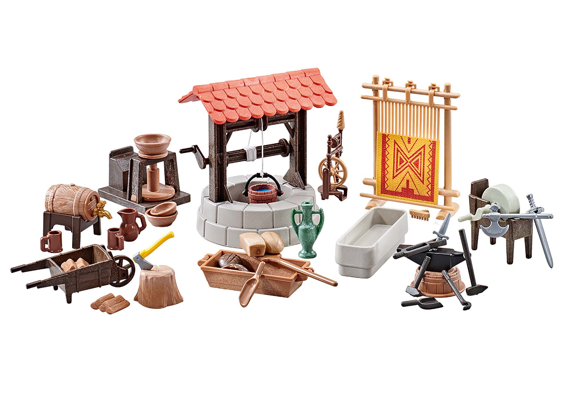 http://media.playmobil.com/i/playmobil/9842_product_detail/Medieval Village Accessories
