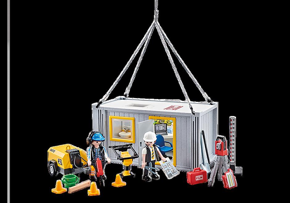 9843 Contentor de obras e trabalhadores detail image 1