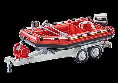 9845 Φουσκωτό Σκάφος Πυροσβεστικής με τρέιλερ