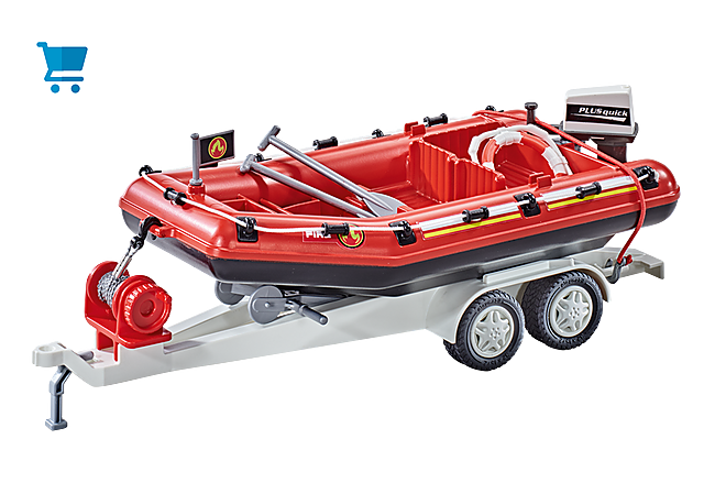9845_product_detail/Brandweerboot met aanhangwagen