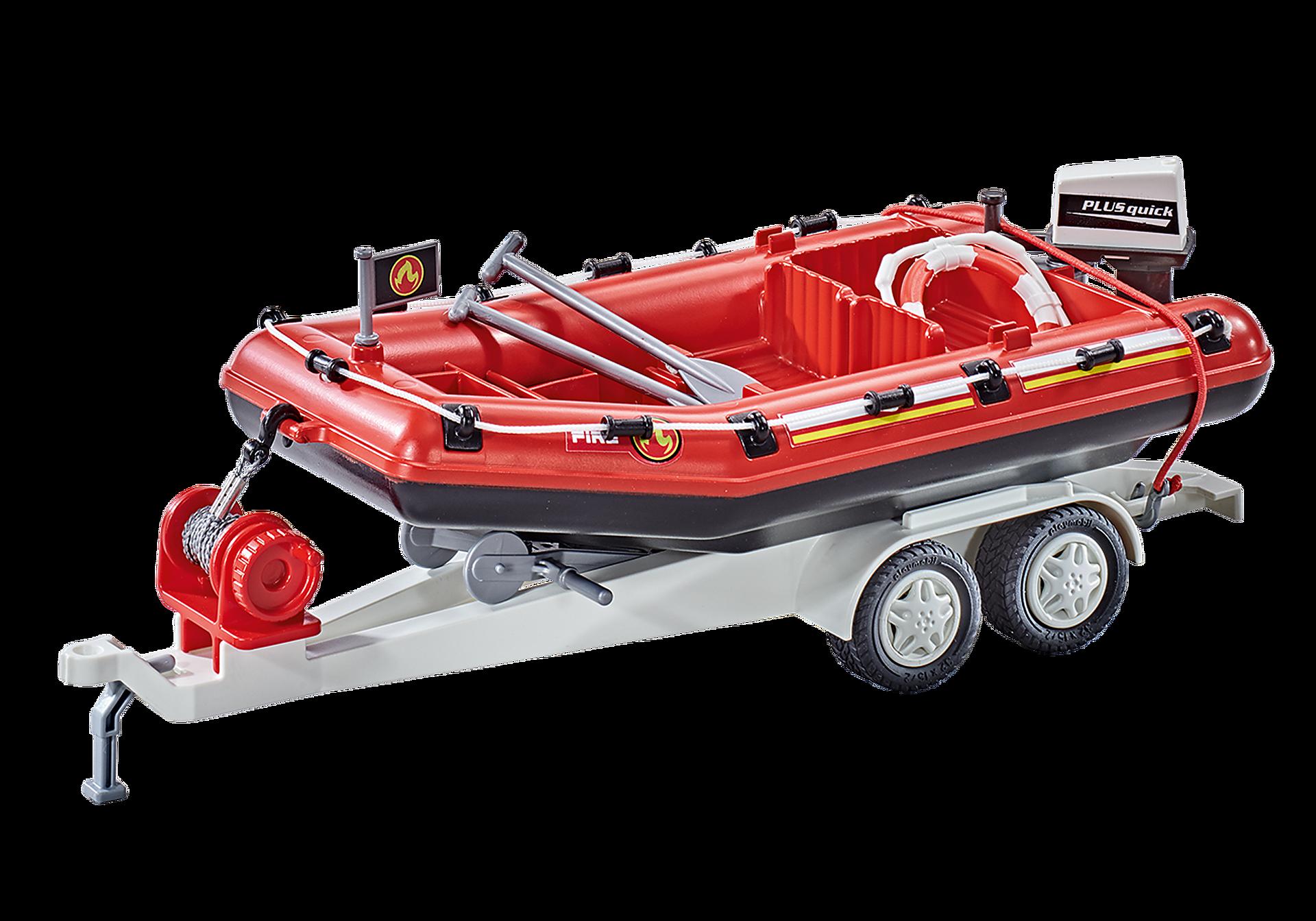 9845 Feuerwehr-Schlauchboot mit Anhänger zoom image1